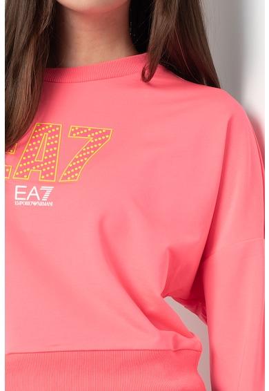 EA7 Bluza sport crop cu maneci cazute, 3KTM10-TJ9RZ Femei