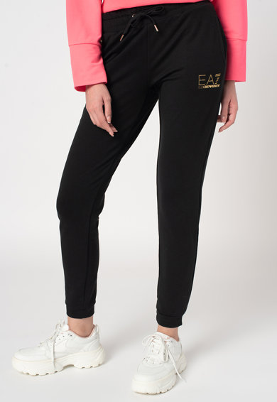 EA7 Pantaloni sport cu snur de ajustare in talie Femei