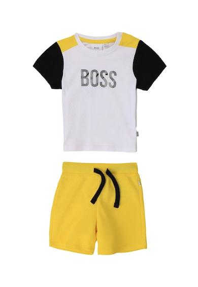 Boss Hugo Boss Set de tricou cu model colorblock si pantaloni scurti Baieti