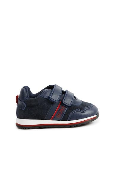 BOSS Pantofi sport cu velcro si insertii de piele Baieti