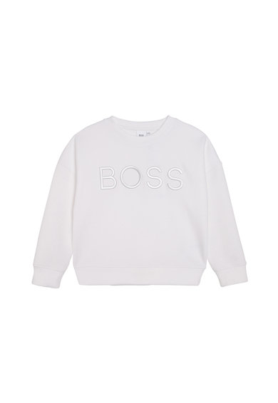BOSS Bluza sport cu logo in relief Fete