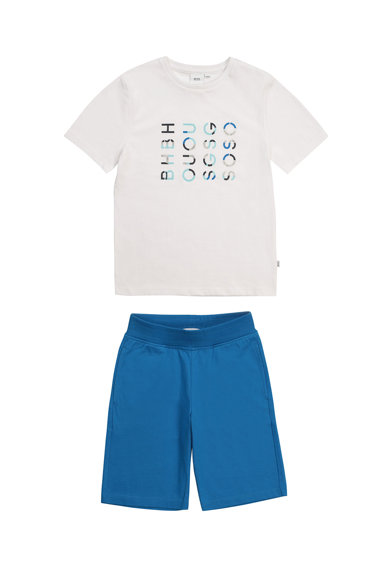 Boss Hugo Boss Set de tricou si bermude Baieti