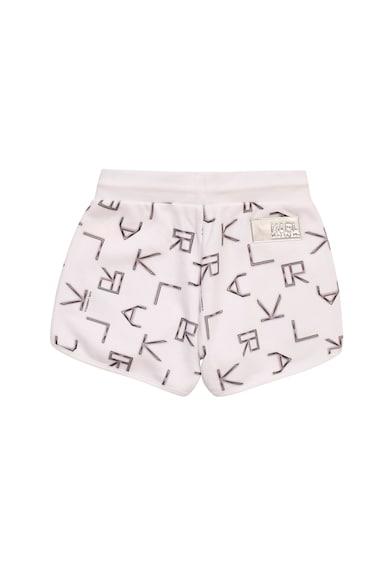 Karl Lagerfeld Pantaloni scurti cu imprimeu si snur in talie Fete