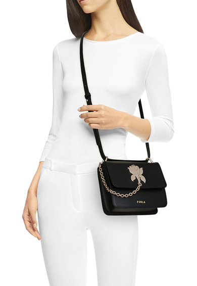 Furla Кожена чанта през рамо Tuberosa с метален детайл Жени