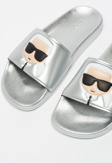 Karl Lagerfeld Papuci cu aspect metalizat Femei