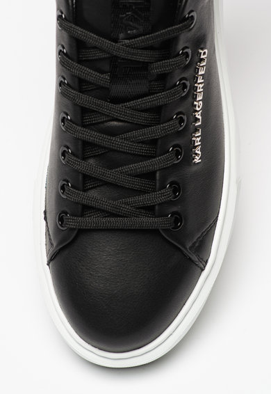 Karl Lagerfeld Pantofi sport de piele cu logo metalic Maxi Kup Barbati