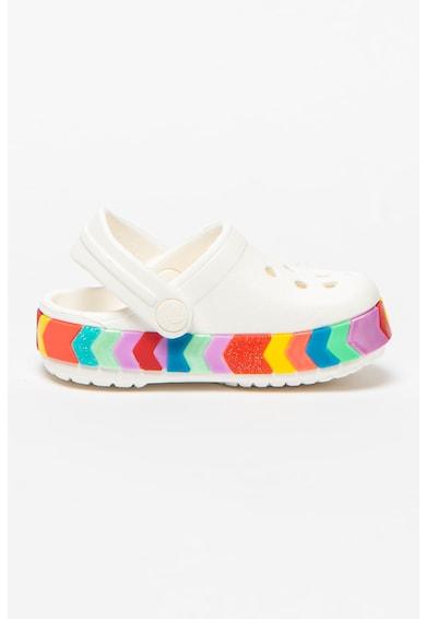 Crocs Saboti slingback cu talpa cu model colorblock Fete