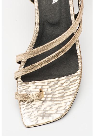 Furla Sandale de piele cu aspect metalizat Armonia Femei