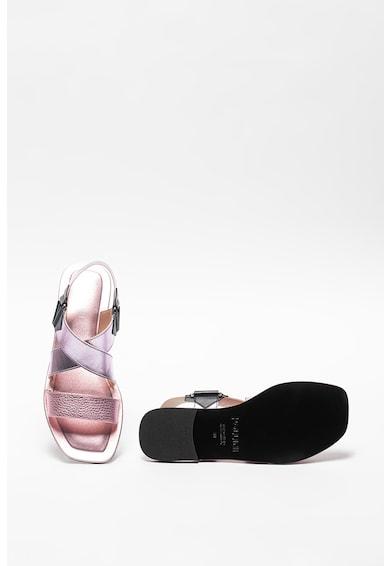 Pollini Sandale slingback cu aspect metalizat Femei