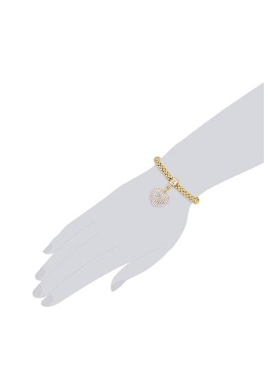 Highstreet Jewels Bratara placata cu aur si talisman in forma de inima Femei