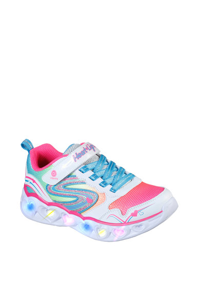 Skechers Pantofi sport cu velcro S Lights: Heart Lights - Love Spark Fete