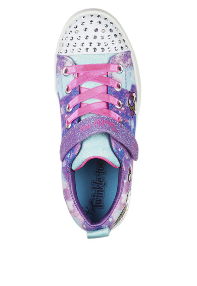 Skechers Pantofi sport cu bareta velcro Sparkle Rayz Fete