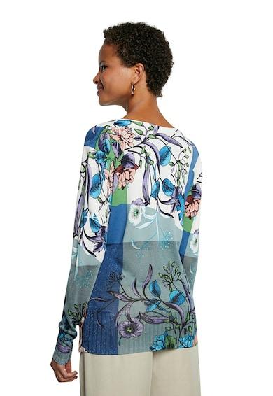DESIGUAL Bluza din jerseu cu decolteu in V si imprimeu floral Femei