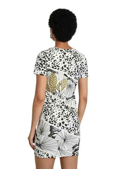 DESIGUAL Rochie mini tip tricou cu animal print Femei