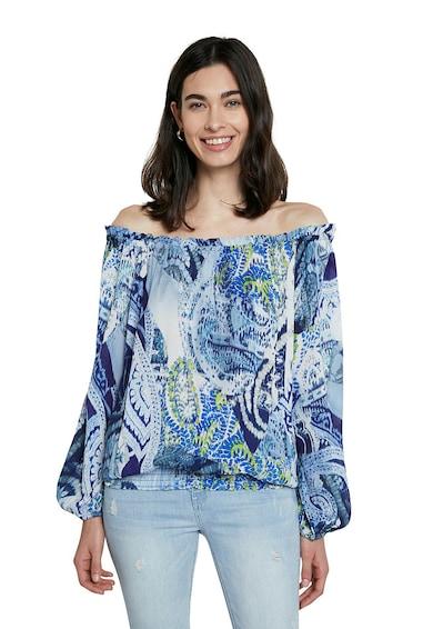 DESIGUAL Bluza cu decolteu pe umeri si imprimeu Paisley Femei