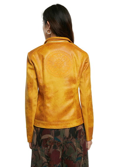 DESIGUAL Jacheta biker cu guler detasabil Femei