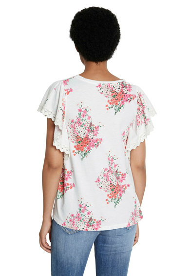 DESIGUAL Tricou cu imprimeu floral si maneci ample Femei