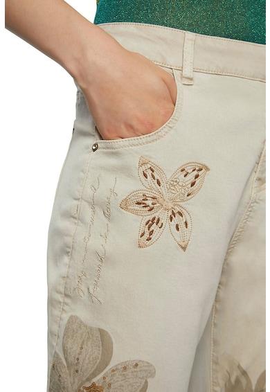 DESIGUAL Blugi din amestec de modal cu flori brodate Femei