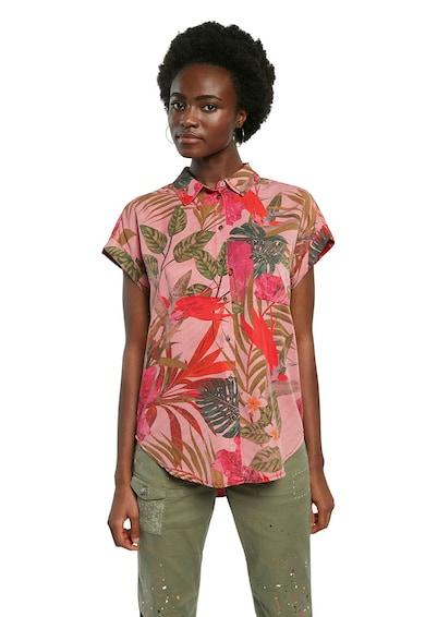DESIGUAL Camasa din lyocell cu imprimeu tropical Femei