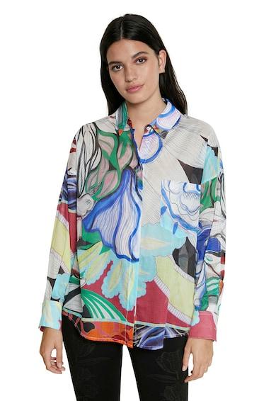 DESIGUAL Camasa cu model abstract si buzunar aplicat Femei