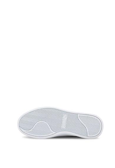 Puma Pantofi din piele ecologica pentru baschet Shuffle Jr Baieti