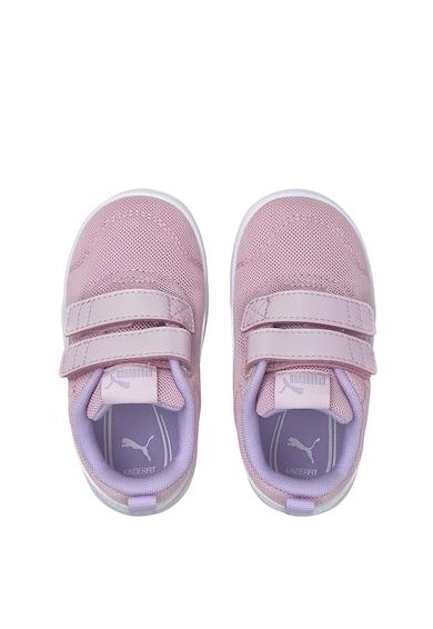 Puma Pantofi sport de plasa tricotata cu velcro Courtflex v2 Fete
