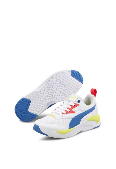 Puma Pantofi sport cu garnituri de piele ecologica si amortizare, pentru alergare X-Ray Lite Baieti