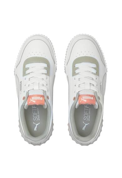Puma Pantofi sport cu amortizare, cu garnituri de piele Carina Lift Jr Fete