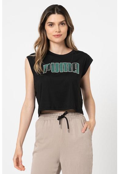 Puma Tricou crop cu tehnologie dryCELL si imprimeu logo pentru fitness Femei