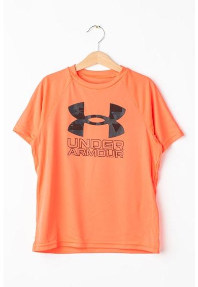 Under Armour Tricou cu imprimeu logo pentru fitness Tech Hybrid Baieti