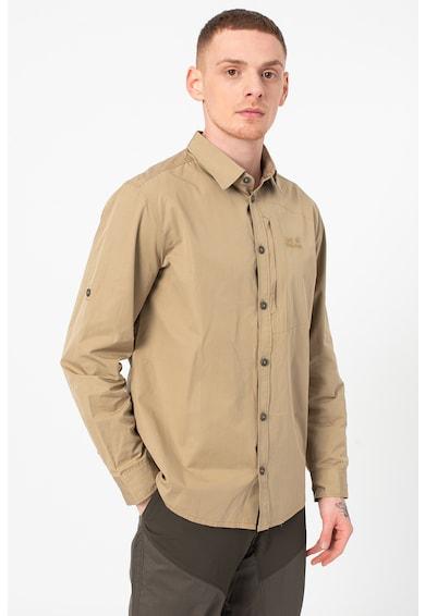 Jack Wolfskin Риза Lakeside Roll-Up с органичен памук Мъже