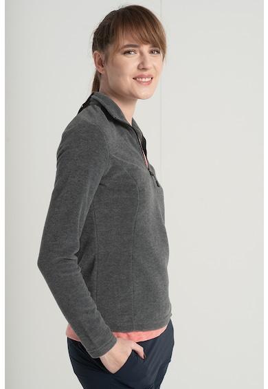 Jack Wolfskin Bluza din material fleece cu fenta cu fermoar Gecko Femei