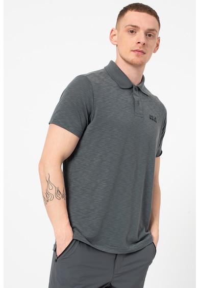 Jack Wolfskin Тениска Travel с яка и бродирано лого Мъже