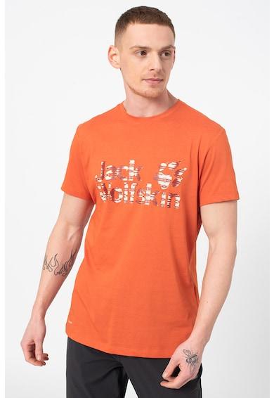 Jack Wolfskin Тениска с органичен памук Logo Ocean Мъже