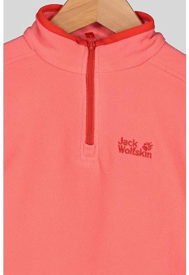 Jack Wolfskin Микрополарен суитшърт Gecko с къс цип Момичета