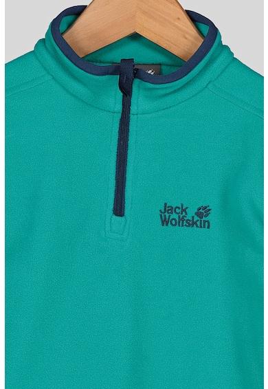 Jack Wolfskin Bluza sport din material microfleece cu fenta cu fermoar, pentru drumetii Gecko Fete