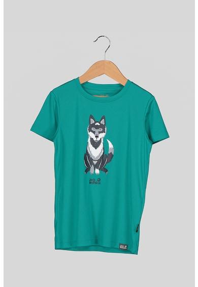 Jack Wolfskin Тениска Wolf с органичен памук с щампа Момичета