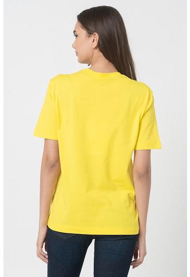 Love Moschino Tricou cu decolteu la baza gatului si imprimeu stralucitor Femei