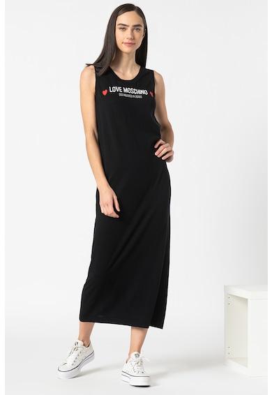 Love Moschino Rochie maxi din jerseu, cu imprimeu logo Femei