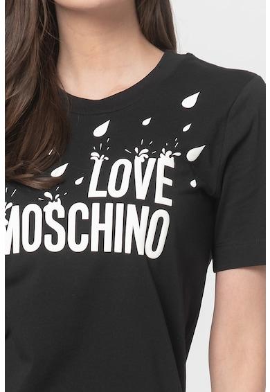 Love Moschino Rochie mini tip tricou cu imprimeu logo Femei