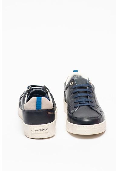 Lumberjack Pantofi sport de piele cu garnituri contrastante Rambla Barbati