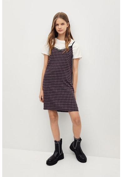 Mango Карирана рокля Alex Момичета