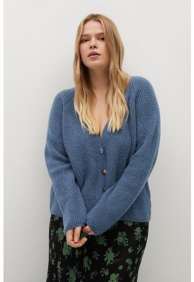 VIOLETA BY MANGO Cardigan tricotat cu nasture bijuterie Dora Femei
