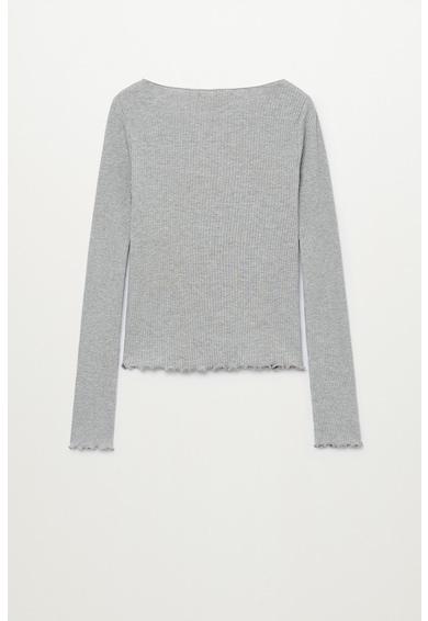 Mango Блуза Sky с органичен памук с рипсен ефект Момичета