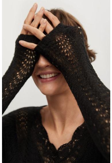 Mango Къс пуловер Frilla с ажур Жени