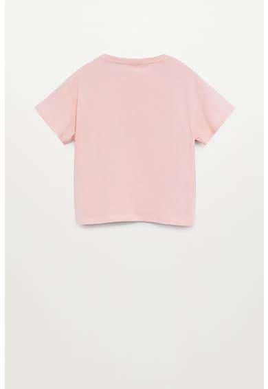 Mango Тениска от органичен памук Candy Момичета