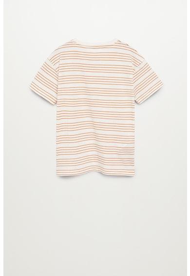Mango Раирана тениска Oli с пришит джоб Момчета