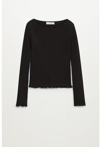 Mango Рипсена блуза Sky от органичен памук Момичета