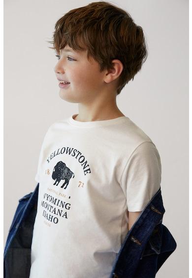 Mango Тениска от органичен памук с щампа Момчета