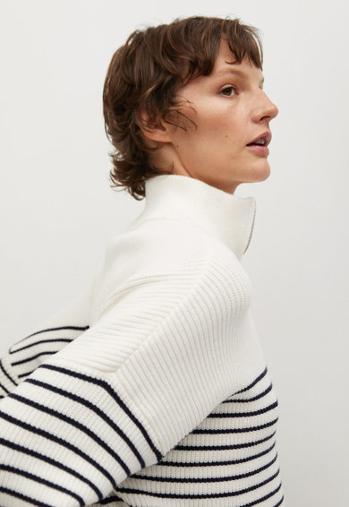Mango Раиран пуловер Rizonir с цепка с цип Жени